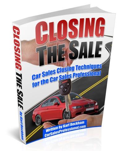 Car Sales Closing Book