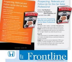 Car Sales Prospecting Featured Honda Acura Publication