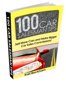 Auomobile Salesman Tips Book