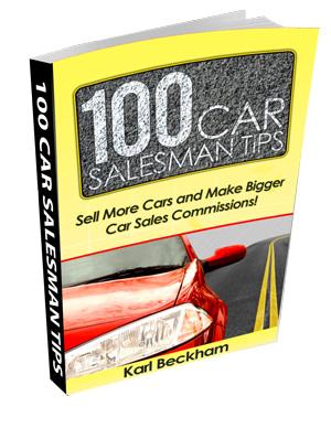 Car Salesman Tips Book