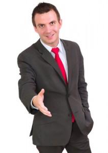 Car Salesman Greeting - Shaking Hands