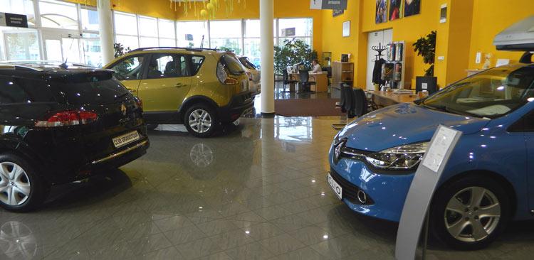 car salesmen on the floor