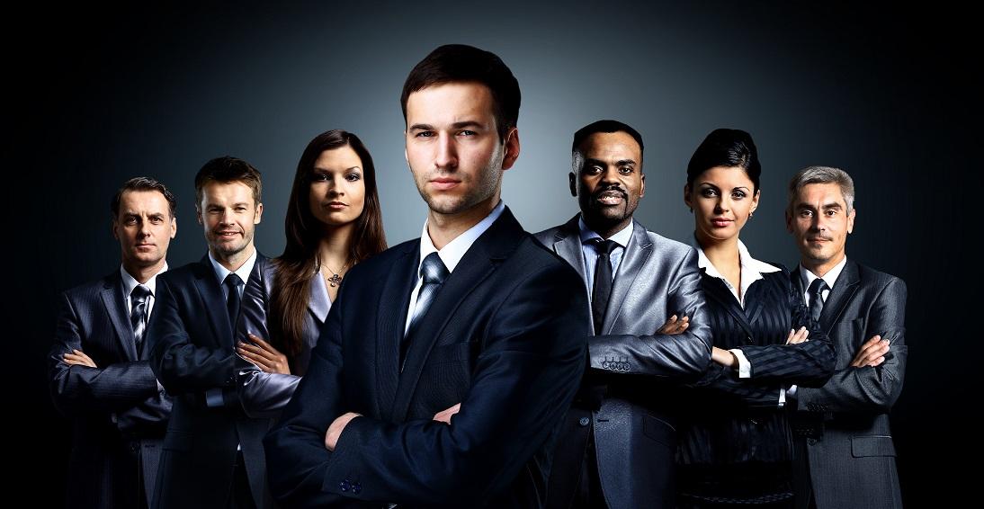 professional car salesman and women