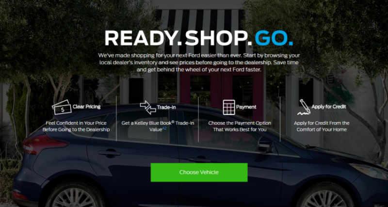 online dealership Ford ready set go