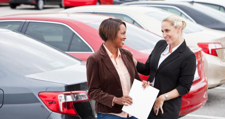 Car Saleswoman Marketing