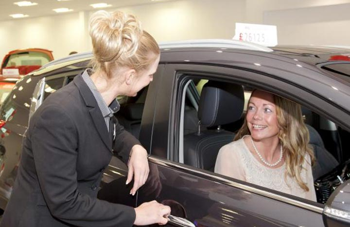 car saleswoman