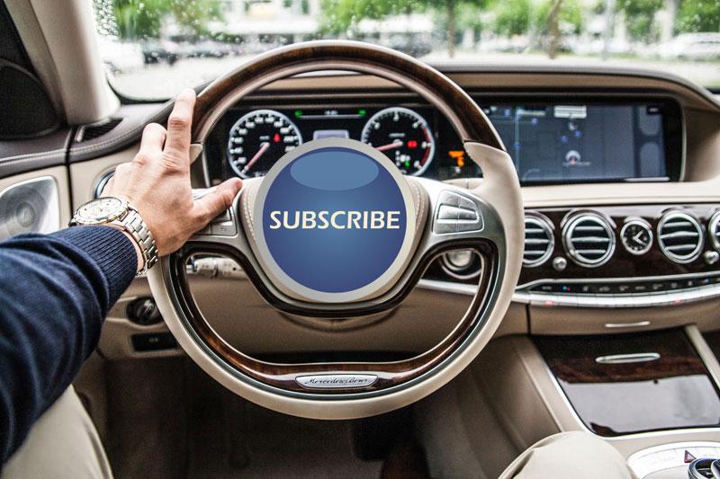 car salesman in subscription cars